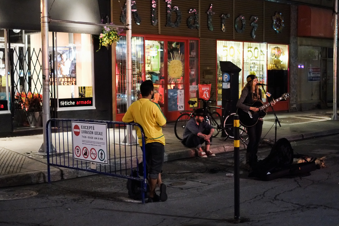 Busker in the gay village